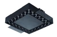 Imperialux Typ 24-LED Deckeneinbaustrahler Linear Square
