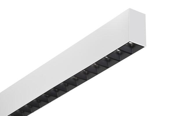Alu Lichtkanal 45 Monoline mit mattschwarzes Zellenraster